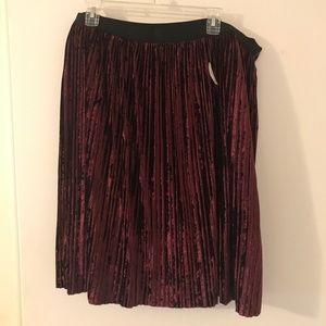 Lord & Taylor Velvet Skirt